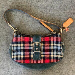 Authentic Coach Plaid Shoulder Bag